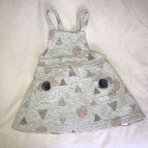 Zara Baby Knit Dress w/ pom poms